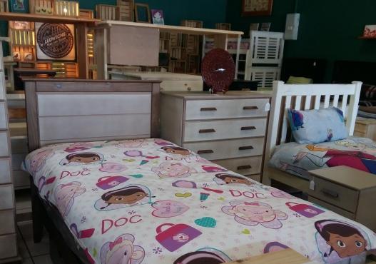 Zia Single Bed - Sandy Stone & Protea Brown.