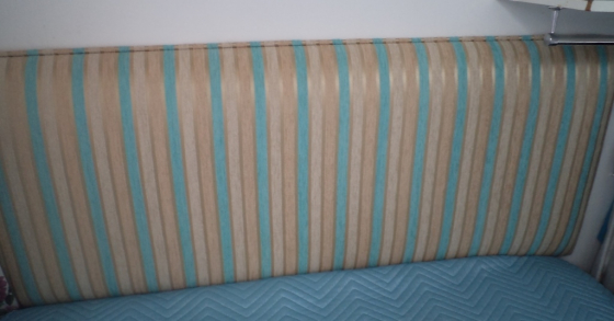 Clearance sale 2 x Double headboard - 1 rustic R800 and 1 blue stripe R750.00 ONCO