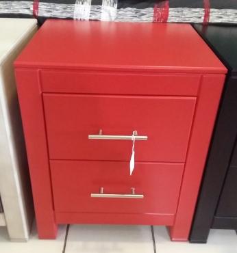 Janel Pedestal / Bed side Table - Red