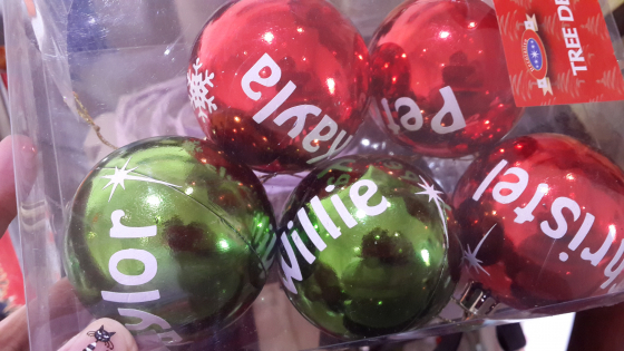 Personalized Christmas Ball Ornaments