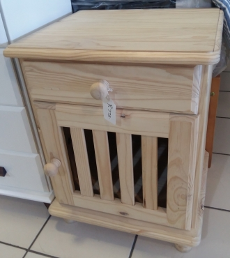 Pine Slatted Pedestals / Bed side Table - Raw