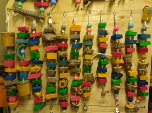 Bird cage toys