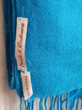 Turquoise Pashmina Scarf - Large