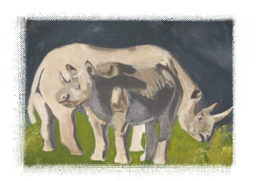 Rhino Acrylic painting