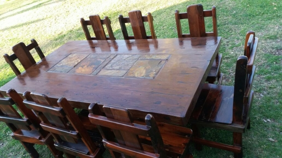 Sleeper wood table in dining room furniture gauteng
