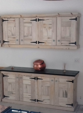 Kitchen Cupboard Farmhouse series 2000 Combo 1 Raw