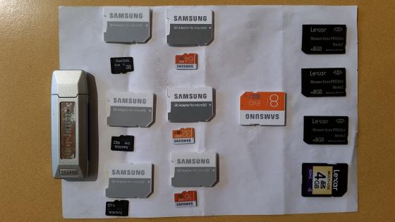 Memory cards- GENUINE Sandisk,Samsung & Lexmark