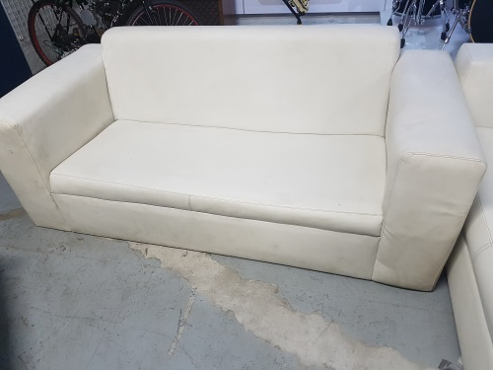 White pleather 2 sea