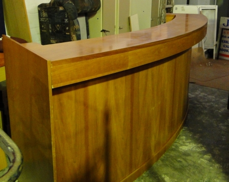 Beautiful Rose Wood 3 meter Reception Desk with 2 sets of Drawers - R6500
